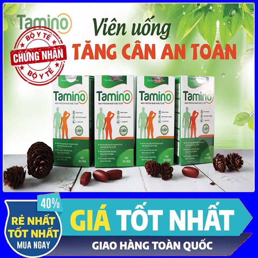 [ Combo 4 Hộp ] Viên Uống Tăng Cân TAMINO -  Bổ Sung Hợp Chất Whey Protein Từ Mỹ Đang Có Giảm Giá