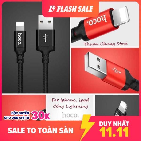 Cáp sạc dây dù Hoco X14 dài 1M, 2M - cổng Lightning - sạc Iphone Ipad✓Chất Lượng Cao ✓Bảo Hành 6 Tháng - Phụ kiện điện thoại