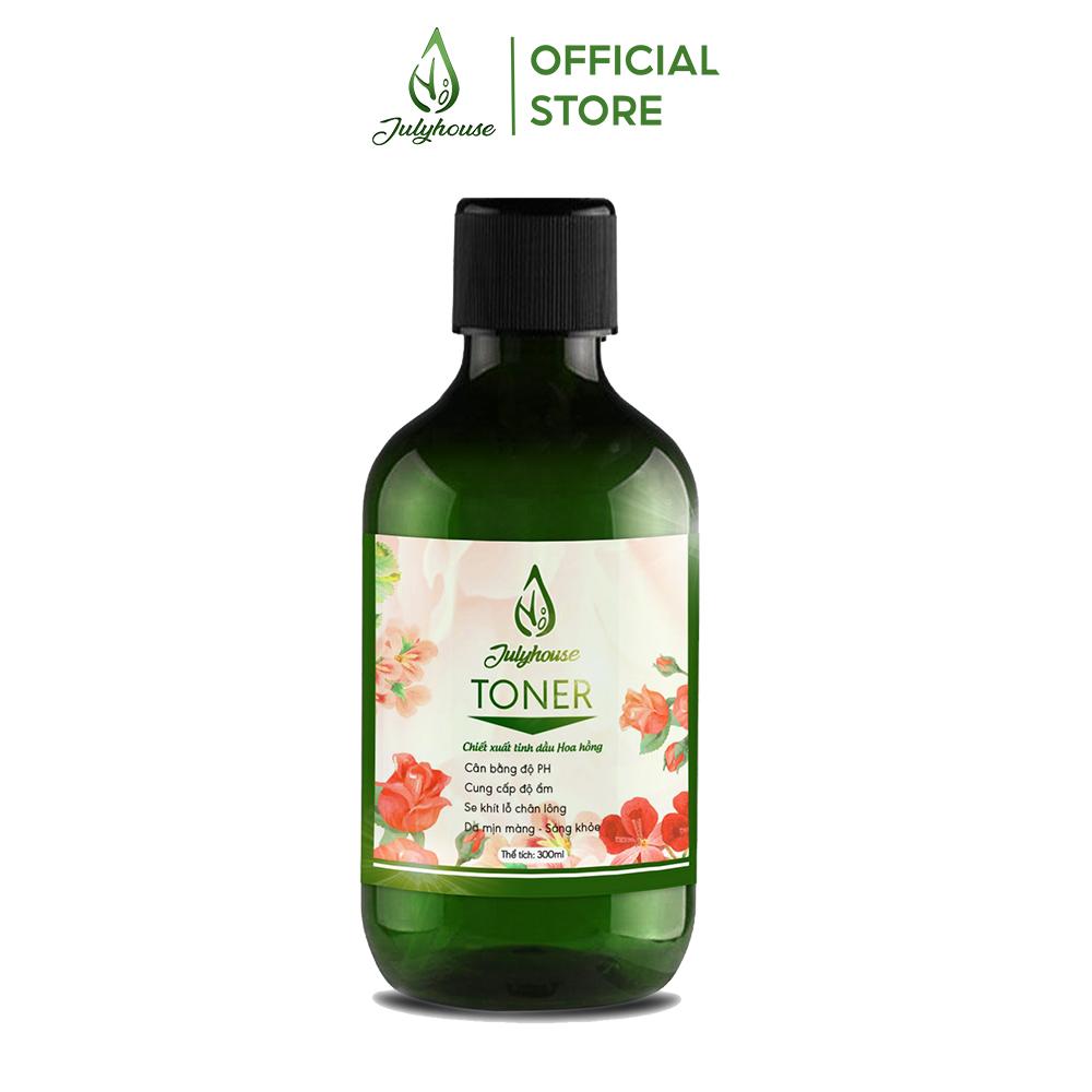 Toner chiết xuất tinh dầu Hoa Hồng 300ml JULYHOUSE