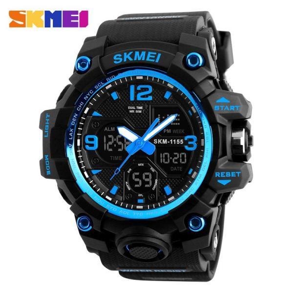 Nơi bán Đồng hồ thể thao nam - đồng hồ điện tử chống nước  dây cao su Skmei 1155B - chính hãng