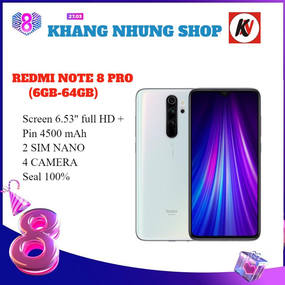 Combo Điện Thoại Xiaomi Redmi Note 8 Pro (6GB/128GB) + Ốp lưng + Cường lực 5D full màn - Hàng nhập khẩu.