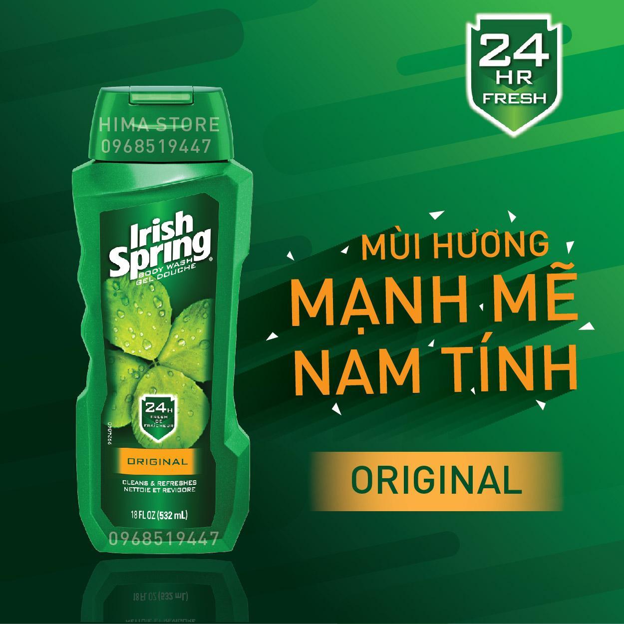SỮA TẮM IRISH SPRING FOR MEN - ORIGINAL 532ML (CAM)