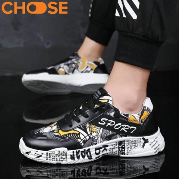 Giày Nam Sneaker Phối Nhiều Màu Kiểu Dáng GEOMATRIC Thu Đông 2621 giá rẻ