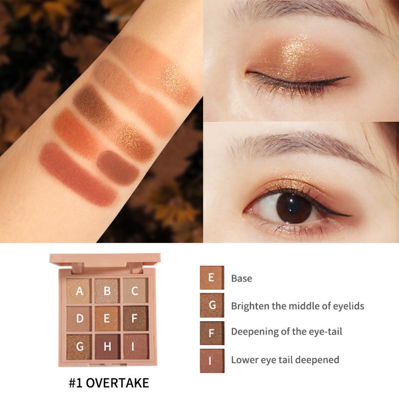 SANIYE 9 màu Bảng Mau măt Cô gắi dễ thương Phấn mắt màu hồng E0924 giá rẻ