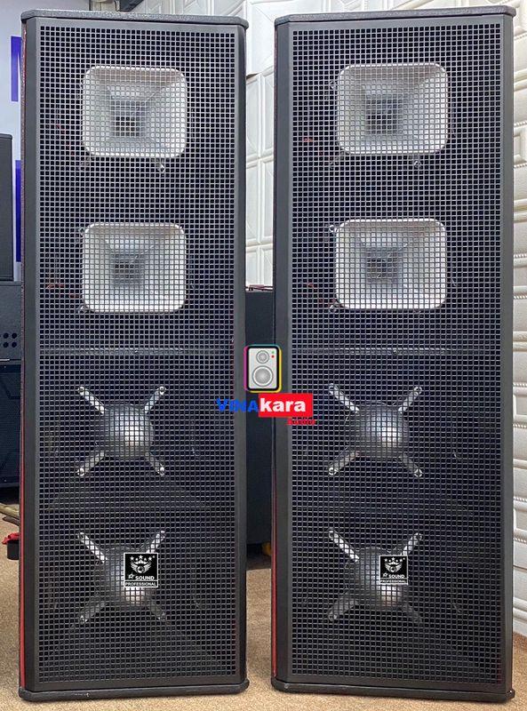 Vỏ thùng loa hoả tiễn 4 bass 30, 2 treplb cao cấp, ván ép nhập khẩu, hàng chuyên show chuyên nghiệp