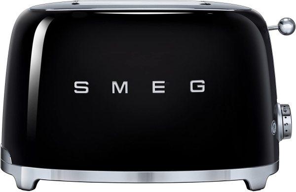 Máy nướng bánh mỳ SMEG TSF01BLEU màu đen
