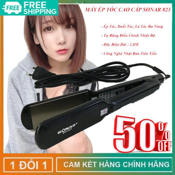 [ Xả Hàng] Máy ép tóc - máy ép tóc thẳng sonar 823 siêu thẳng - máy duỗi tóc - máy là tóc chính hãng - máy là tóc thẳng - máy kẹp duỗi tóc