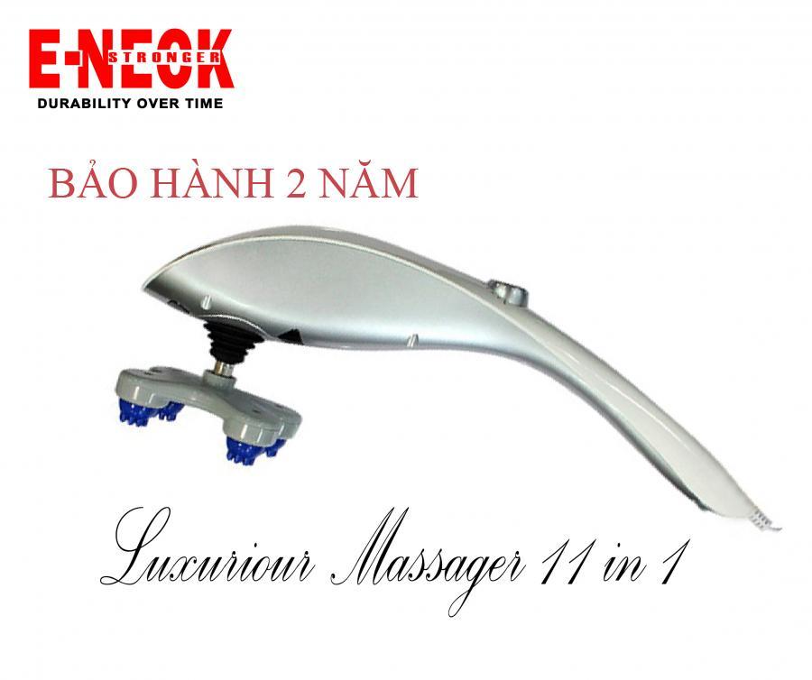 Máy massage hồng ngoại cầm tay 11 đầu-Tặng Bộ giác hơi 9 món. máy matxa thông minh massa thư gian new 2019- BH 2 năm