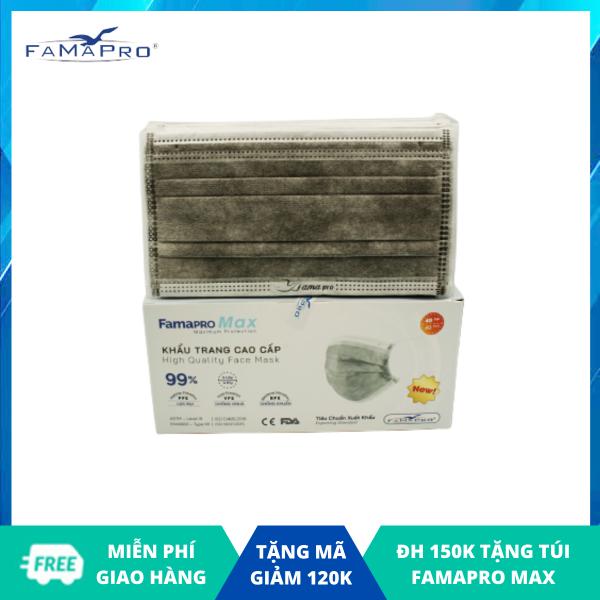 Khẩu trang y tế cao cấp 4 lớp Famapro Max kháng khuẩn (40 cái / Hộp) nhập khẩu