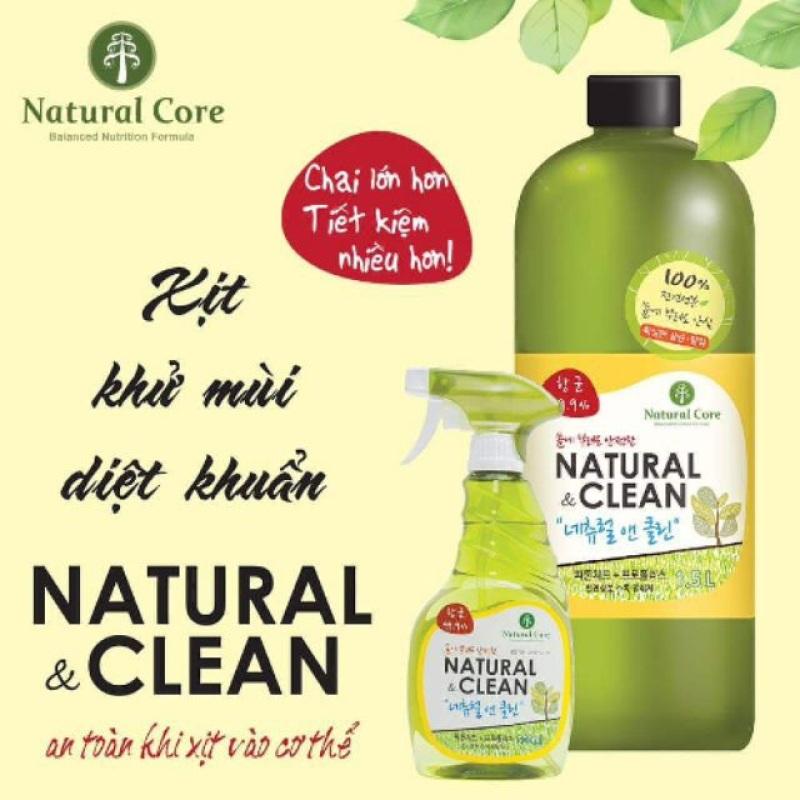 Xịt khử mùi diệt 99.9% vi khuẩn Natural Clean Hàn Quốc
