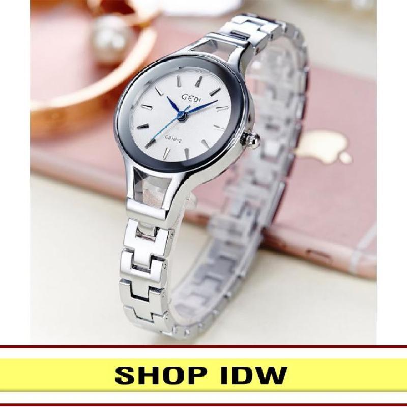 [Có video quay thật] Đồng hồ nữ dây thép không rỉ thời trang Gedi IDW 7221 (Nhiều màu lựa chọn)