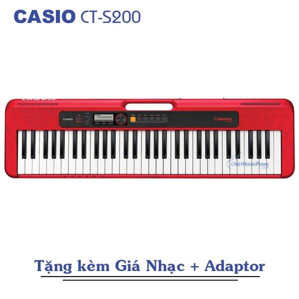 Đàn Organ Casio Casiotone CT-S200 (Đủ 3 màu) Kèm Adapter + Giá nhạc - Việt Hoàng Phong