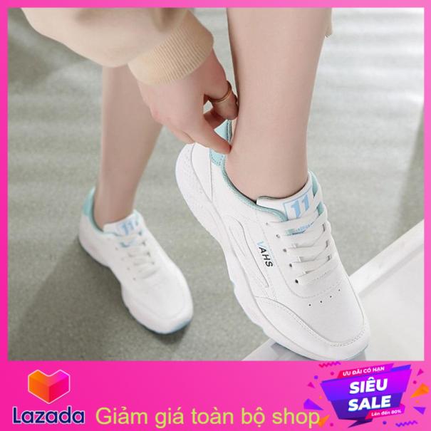 Giày thể thao nữ-chữ VAHS-trắng đen, trắng xanh, trắng hồng, Gia rẻ hơn những loại Giày thể thao nam Muidoi G145 (Đen) giày nam đẹp đế siêu nhẹ,Giày Thể Thao Nam Alami, Giày sneaker nam thể thao cao cấp giá sốc 2019 giá rẻ