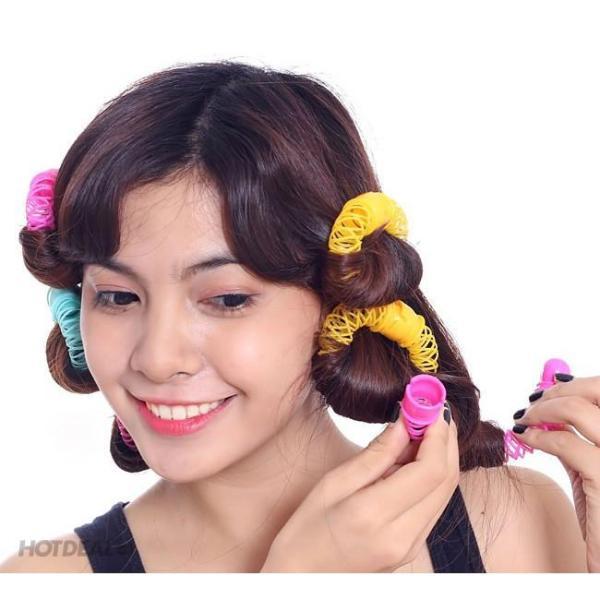 Bộ quấn tóc 8 lô uốn tóc không dùng nhiệt