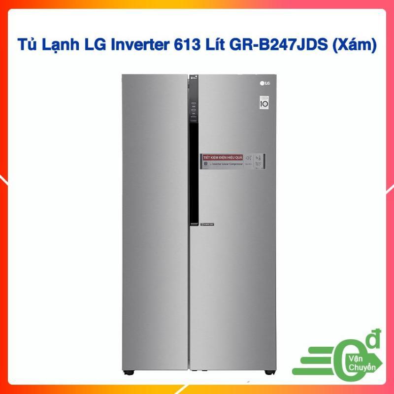 Tủ Lạnh LG Inverter 613 Lít GR-B247JDS (Xám)