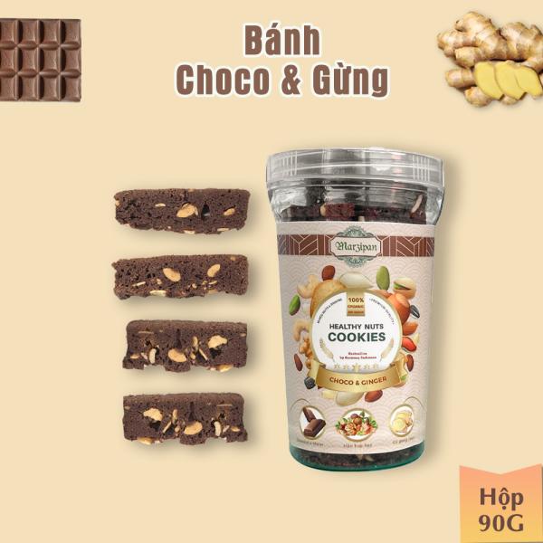 [VỊ ĐỘC LẠ] Bánh CHOCOLATE & GỪNG đốt mỡ giảm cân, dành cho tập luyện thể thao, gym - Hỗn hợp hạt ngũ cốc - 90gr