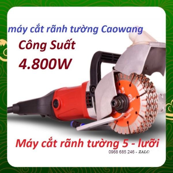 Máy cắt rãnh tường Caowang- 5 lưỡi cao cấp _ Nhật Việt official