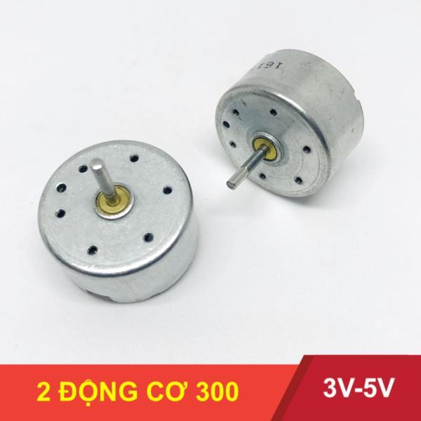 Bảng giá Bộ 2 động cơ 300 motor mô tơ mini 3V-5V trục dài 10mm, chế quạt quay cực tít - LK0005-2