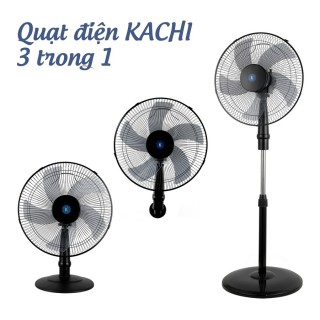 Quạt điện đa năng 3in1 Kachi MK145 - quạt đứng, quạt bàn, quạt treo tường - Màu đen thumbnail