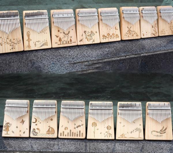 Kalimba Nguyên Khối 17 phím Dành Cho Người Mới Học - Full Phụ Kiện