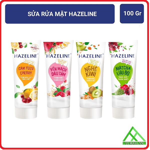 Sữa Rửa Mặt Hazeline 100g - Sáng Da Dưỡng Ẩm Ngừa Mụn
