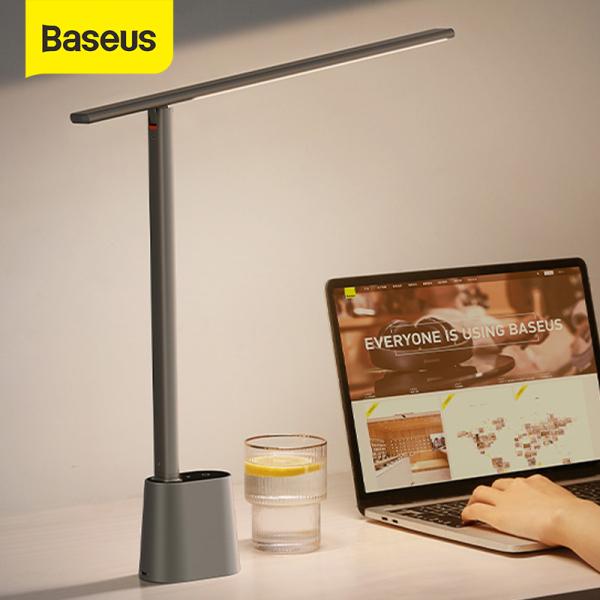 New Baseus Đèn LED Để Bàn Đèn Đọc Sách Văn Phòng Làm Việc Có Thể Điều Chỉnh Độ Sáng Bảo Vệ Mắt, Đèn Bàn Có Thể Gập Lại Đèn Ngủ Điều Chỉnh Độ Sáng Thông Minh