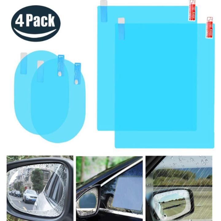 Bộ 4 miếng dán chông đọng nước kính hông và gương chiếu hậu ô tô xe hơi DC150 - Bảo hành 3 tháng