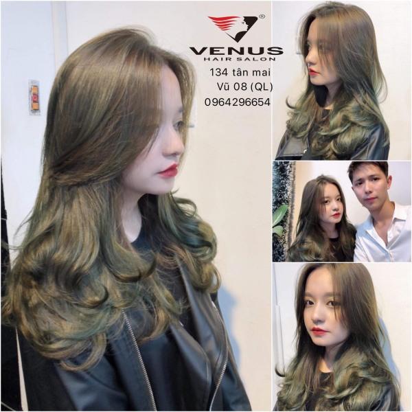 Tự nhuộm tóc màu Nâu rêu tại nhà, hàng nội địa Việt Nam, không gây hư tổn cho tóc (Trọn bộ tặng gang tay, trợ nhuộm)