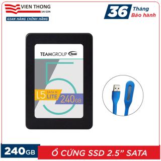 Ổ cứng SSD L5 240GB Team Group LITE 2.5 Sata III (Bảo hành 3 năm đổi mới) tặng đèn LED cổng USB - Hãng phân phối chính thức thumbnail