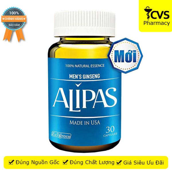 Mens Gingsen Alipas - Sâm Alipas (Mới) Hộp 30 viên giúp tăng cường sinh lý, giữ vững phong độ - CVSpharmacy