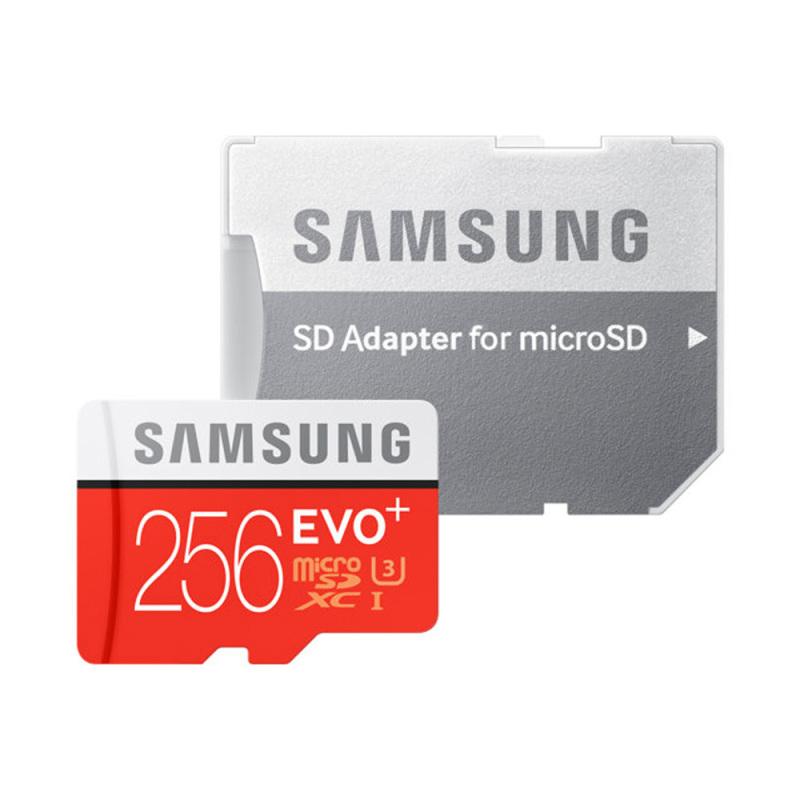 Thẻ nhớ MicroSDXC Samsung EVO Plus 256GB U3 4K - W90MB-R100MB With Adapter (MB-MC256GA)