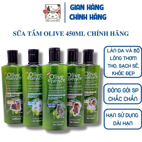 Sữa tắm Olive chó mèo 450ml SIÊU MỀM MƯỢT 4 loại đa công dụng - Đảo Chó Mèo 15000