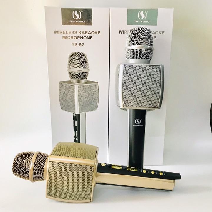 [SALE SỐC 3 NGÀY ] Micro Karaoke Chuyên Nghiệp YS 92, Mic Hát Karaoke Bluetooth Không Dây YS92 Lọc Tiếng ồn Cực Hay- Kèm Loa- Âm vang - Ấm - Mic Hát Karaoke Cầm Tay Mini - Mic Hát Karaoke Hay Nhat Hiện Nay