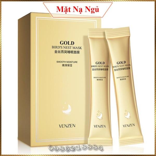 Mặt nạ ngủ Tổ Yến Vàng Venzen Gold Birds Nest Mask trẻ hoá da dưỡng trắng cấp ẩm VBM4 nhập khẩu