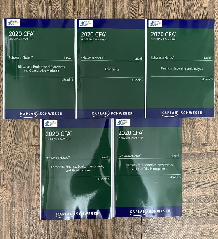 bộ sách 5 quyển CFA 2020 Level I - SchweserNotes Book - Hanoi bookstore