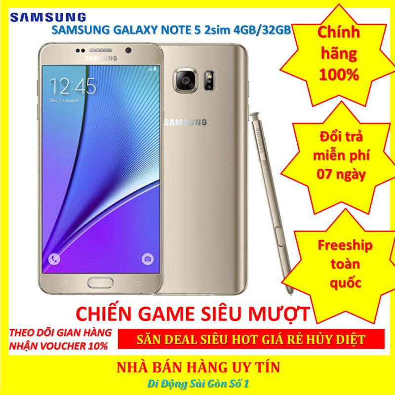 điện thoại Samsung Note 5 Bản 2sim-  Samsung Galaxy Note 5  mới CHÍNH HÃNG - chơi PUBG/Free Fire mượt
