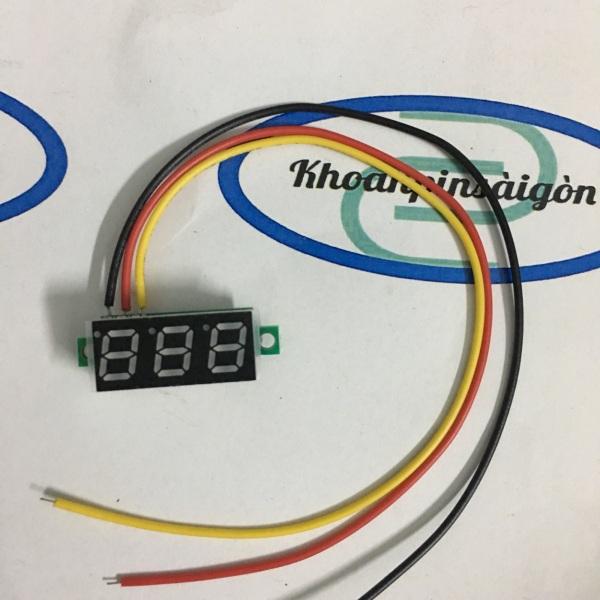 Bảng giá Led đo volt từ 0-100vol DC. Hiển thị số