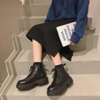 Giày nữ, Bốt nữ ULZANG kiểu dáng cá tính, Phong cách giới trẻ , Chất liệu da mềm đi cực êm chân