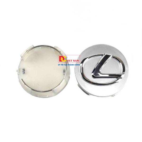 1 chiếc logo chụp mâm, lazang bánh xe ô tô, xe hơi Le.xus đường kính 62mm LS62 (Màu bạc)