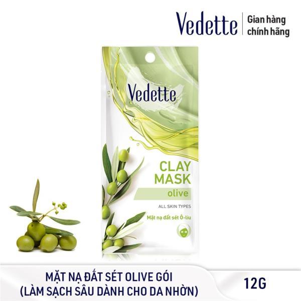 Mặt Nạ Đất Sét Olive Sạch Sâu Dịu Nhẹ Vedette 12g cao cấp