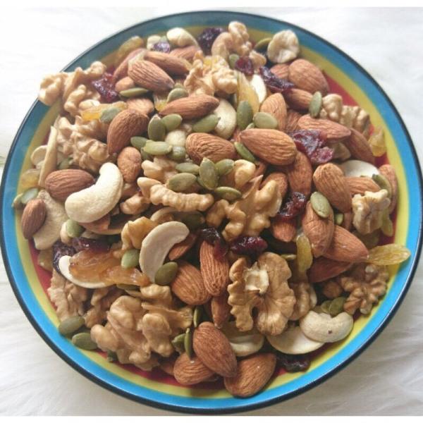 Granola không đường 100% hạt, không yến mạch (túi 500gr), Ngũ cốc ăn kiêng lành mạnh, ngũ cốc hạt dinh dưỡng mix