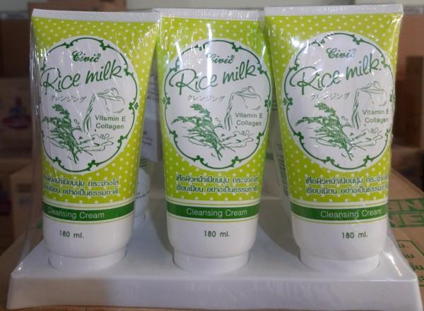 (KTT) Sữa rửa mặt tinh chất Sữa Gạo tupe 180 ml