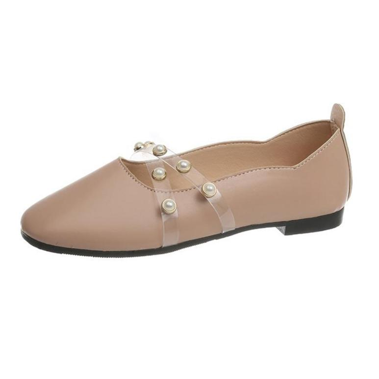 Người Phụ Nữ Tròn Hở Mũi Giày Bằng Giản Thời Trang giá rẻ