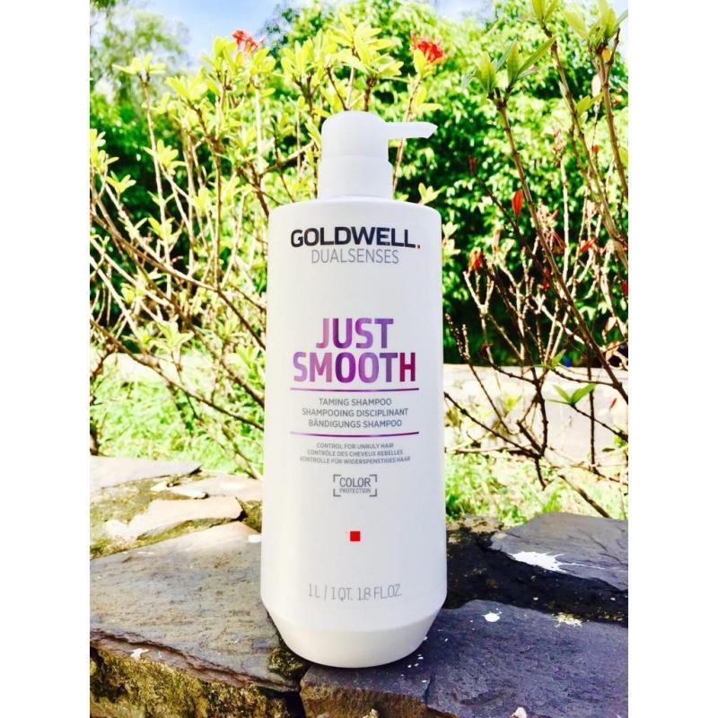 Dầu gội đầu Goldwell Siêu Suôn nếp Châu Á Dualsenses Just Smooth nhập khẩu