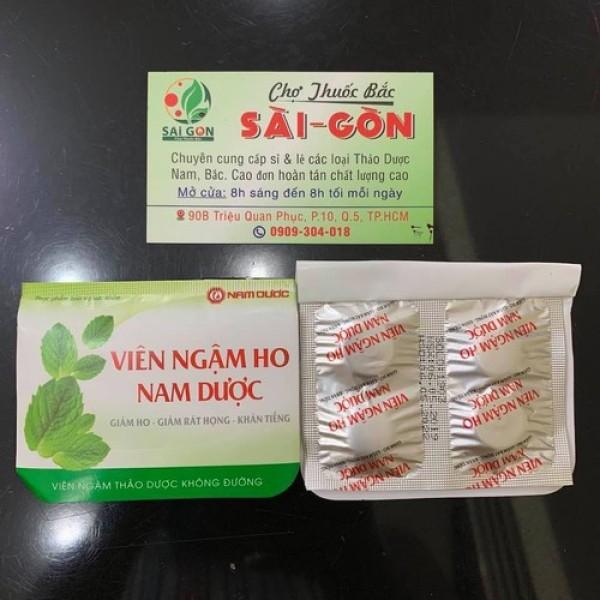 [HCM]Kẹo Ngậm Ho Nam Dược - Vỉ 4 viên
