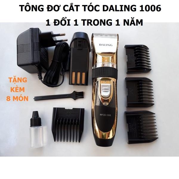 Tông đơ cắt tóc Daling 1006 công suất 12w, Tặng kèm 1 pin dự phòng, Bảo hành máy 12 tháng