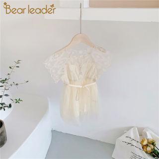 Đầm Công Chúa Bé Gái Gấu Leader, Trang Phục Dự Tiệc Ren Hoa Cho Bé Tập Đi Mùa Hè Váy Cưới Hàn Quốc Ngọt Ngào Cho Trẻ Em