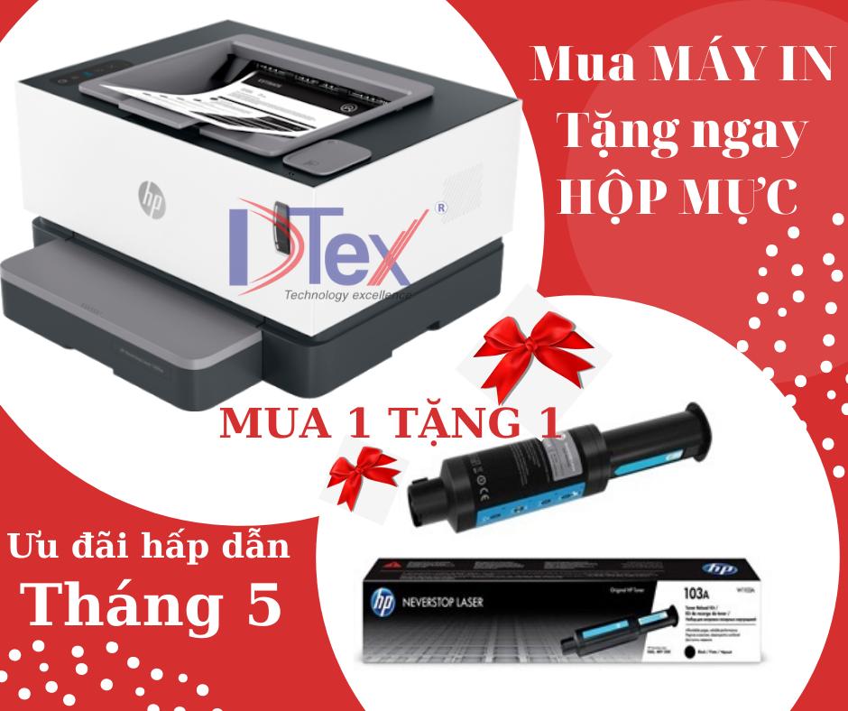 [MUA 1 TẶNG 1] - Máy in HP Neverstop Laser 1000w (4RY23A) Tặng kèm hộp mực HP chính hãng
