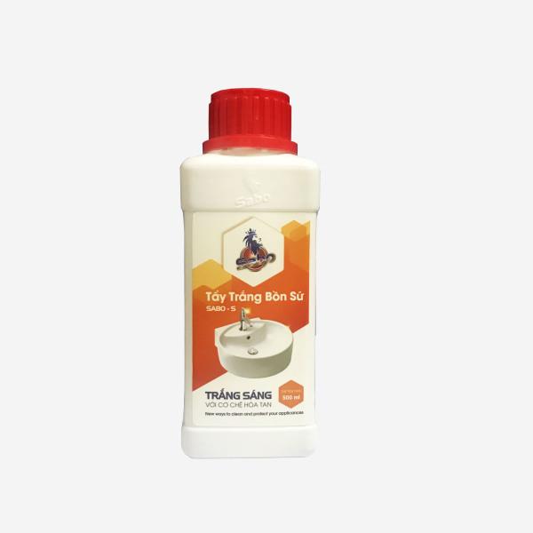 Tẩy bồn cầu SABO-S, Tẩy trắng bồn sứ, gạch men ố vàng, bám cặn canxi, cặn nước đen lâu năm chai 500ml, mùi dịu nhẹ ( Smart House Sài Gòn )