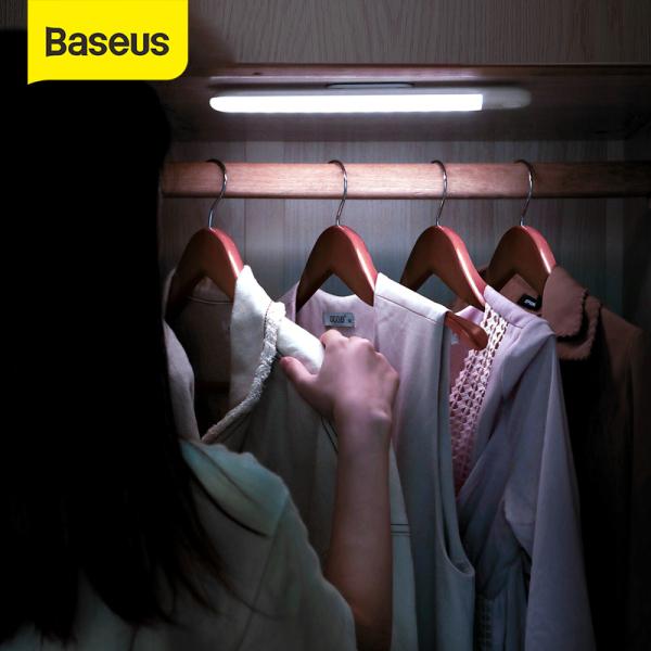 Baseus Đèn Led Cảm biến chuyển động Cung Cấp Ánh Sáng Cho Tủ Quần Áo PIR, Đầu Sạc USB, Đèn ngủ ấm áp LED trắng  - INTL